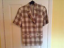 Ladies  Brown Check Jacket