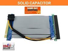 PCI-E Express x16 to 16x Molex Powered Riser Adapter Card SAFER VERSION