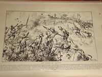 1898 DRAWING SPANISH AMERICAN WAR SAN JUAN SANTIAGO