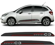 Citroen C3 MK2 Sport side Stripes Graphics Decals Stickers Printed & laminated