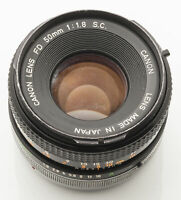 Canon FD 50mm 50 mm 1:1.8 1.8 S.C. - A-1 AT-1 T70 AE-1 F-1