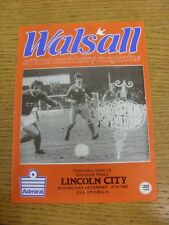 27/12/1982 Walsall v Lincoln City  (Folded). Condition: We aspire to inspect all