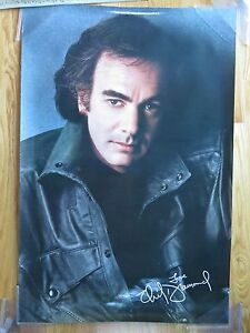 Vintage NEIL DIAMOND Promotional 24x36 Poster Photo by Herb Ritts