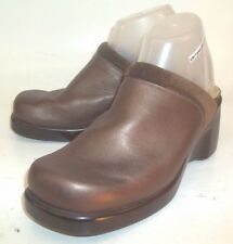 Naot Womens Clogs Wedge EU 39 US 8 Metallic Brown Leather Slip-on Comfort Shoes