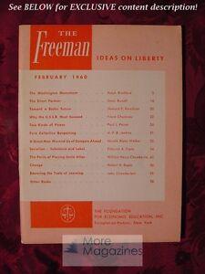 RARE The FREEMAN February 1960 Paul L. Poirot Dean Russell Howard E. Kerschner