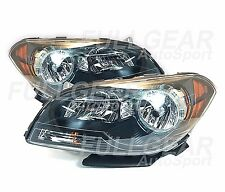 BLACK w/ CLEAR LENS HEADLIGHT PAIR SET FOR CHEVY MALIBU SS LT LS LTZ 2008-2012