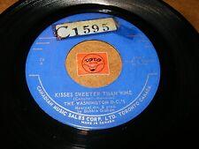 THE WASHINGTON D.C.'S - KISSES SWEETER THAN WINE  / LISTEN - ROCK GARAGE POPCORN