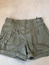 Girls *NEXT* Khaki Shorts Age 9 In Excellent Condition