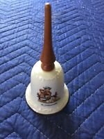 Hummel Porcelain Bell With Wood Handle
