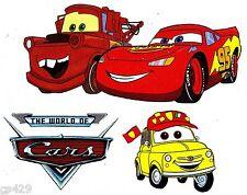 "9.5"" DISNEY CARS MCQUEEN MATER CHARACTER  WALL SAFE STICKER BORDER CUT OUT"