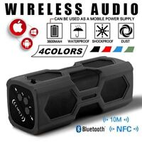 WATERPROOF Portable Bluetooth Speaker Wireless Stereo Subwoofer Bass Aux USB TF