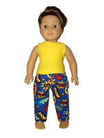 Superhero Pajamas doll clothes for Boys fits American Girl Boy dolls