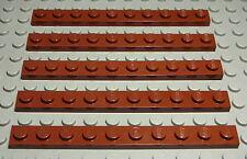 1386 # Lego Platte 2x2 new Braun 4 Stück