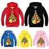 Kids Girls Boys Christmas Pikachu Hoodie Sweatshirt Pullover Hooded Jumper Tops