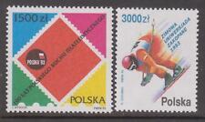 Poland Stamps. Sc.# 3132 Cent. of Polish Philatelic Society; 3133 Skiing. Mnh