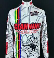 Arte&Arte Sport Giannini Cycling Jersey Spider Rainbow Men's Size M Full Zip