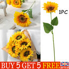 Artificial Silk Fake Sunflower Flowers Bouquet Hotel  Plants Home Party Decor