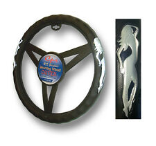 Standing Lady Silver Steering Wheel Cover 121656