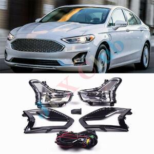 Fit For Ford Mondeo Fusion 2019-20 Daytime Running Light k LED DRL Fog Lamp ASSY
