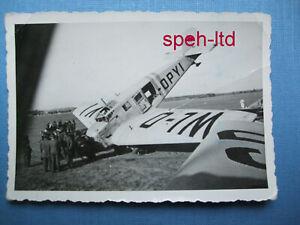 Original Foto / Deutsches Flugzeug, Bruchlandung