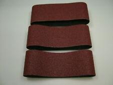 Bandes Abrasives 75 X 457mm Gros Grain 40, Pack de 3 Ceintures, Premium Quality
