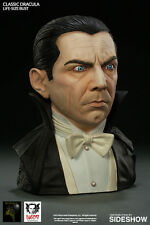 UNIVERSAL MONSTERS - Classic Dracula 1:1 Scale Bela Lugosi Bust (Black Heart)