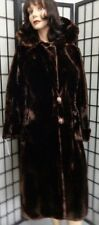 MINT NATURAL ARCTIC BEAVER FUR COAT JACKET WOMEN WOMAN SIZE 6-8 SMALL