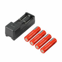 4pcs 18650 5000mAh 3.7V Li-ion Rechargeable Battery + Smart Charger EU Plug QP