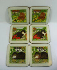 Vintage Coasters Cats and Cottages  St Michael - Marks and Spencer x 6