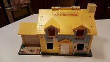 1969 Vtg 952 Fisher Price YELLOW Play Family House Little People Tudor +Playpen