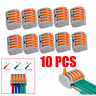 10PCS REUSABLE SPRING LEVER TERMINAL BLOCK ELECTRIC CABLE WIRE CONTOR 5 BH