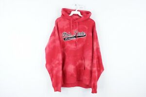 Vtg 90s Mens Large Ohio State University Stitched Acid Wash Hoodie Sweatshirt