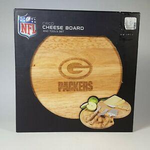 "Green Bay Packers NFL Circo Cheese Board & Tools Set 10"" Round Tailgating Picnic"