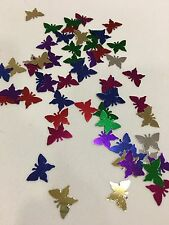 Multi Color Butterfly Wedding Confetti Foil Party Table Decorations Scatters 2oz