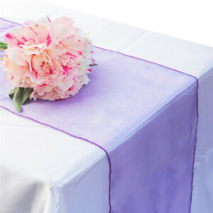 NEW Coloured Organza Table Runner Fabric 30cm*275cm Wedding Party Supplies