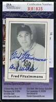 Fred Fitzsimmons 1978 Grand Slam Hand Signed Jsa Certified Autographed Authentic