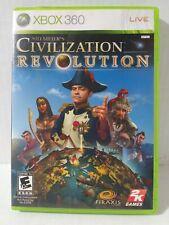 Civilization Revolution (Microsoft Xbox 360, 2008) Tested (Case and Disc)