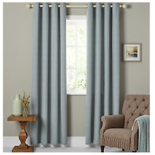 John Lewis Hatch Chenille Lined Eyelet Curtains W167 x D182cm In Duck Egg