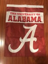 New listing University Of Alabama Crimson Tide Two Sided 14 X 18 Inch Garden Flag Double