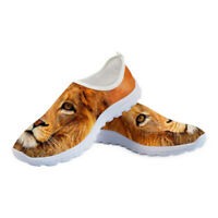 Animal Lion Running Shoes Womens Sneakers Casual Mesh Breathable Fitness Travel