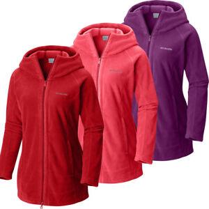 "New Womens Columbia ""Benton Springs II"" Long Hoodie Fleece Jacket Sweaters"