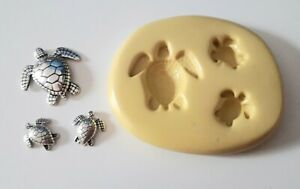 TURTLES Silicone Mould  12 to 25 mm FOOD SAFE Polymer Clay PMC