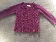 Little Joules Girls Purple Mauve Cardigan 9-10 Years