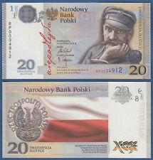 POLEN / POLAND 20 Zlotych 2018 in Folder, 100 Jahre Unabhängigkeit UNC