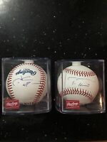 Lot of2: Washington Nationals Autographed Signed baseballs Trea Turner Juan Soto