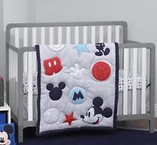 Crib Bedding Set 3Pc Mickey Mouse Nursery Infant Baby Boy Bedroom Comforter Set
