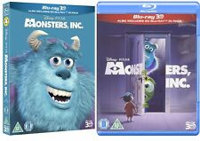 MONSTERS INC 3D + 2D Blu-Ray Disney NEW Free Ship includes special slipcover