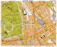 LONDON W1 WC1 NW1 Euston Regent's Park Bloomsbury Fitzrovia. BACON 1968 map