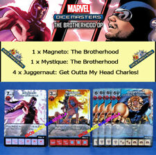 MARVEL DICE MASTERS BROTHERHOOD OP KIT - Magneto + Mystique + 4 x Juggernaut