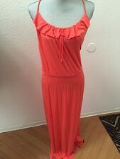 NWT NEW with defect Costa Blanca Collection Coral Pink Long Maxi Dress Medium M